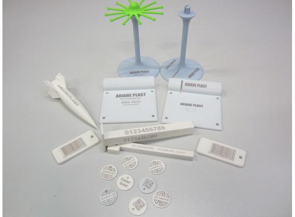 F-LASER Filament 3D PLA Compatible marquage laser fibre blanc 500g