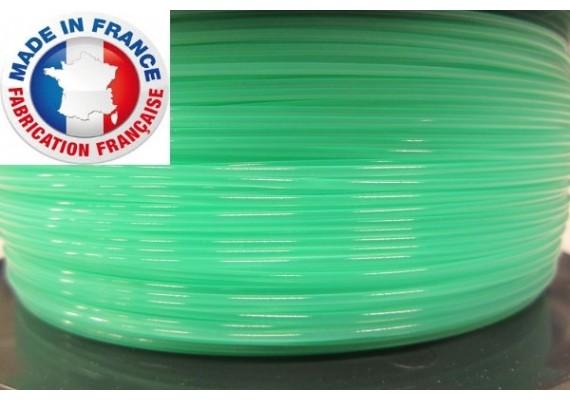 PLA Vert translucide 3D filament Arianeplast 1kg  fabriqué en France
