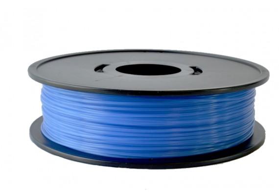 PLA Bleu translucide 3D filament Arianeplast 350g fabriqué en France