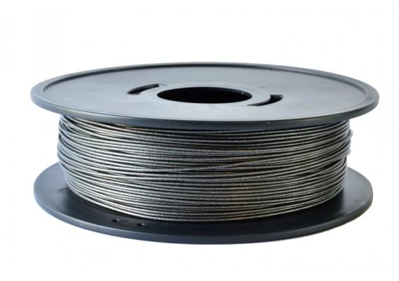 FPLAnoirmetal bobine de fil PLA noir métallisé 3D filament Arianeplast 2.3kg fabriqué en France