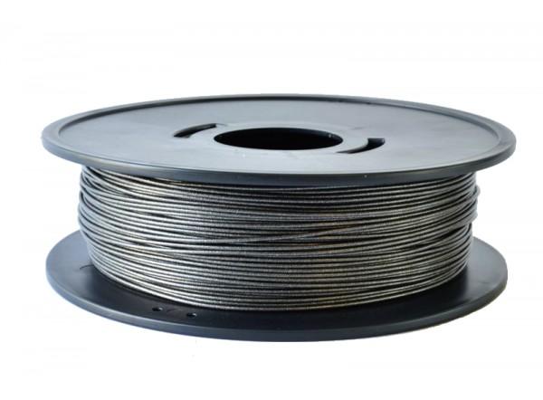 FPLAnoirmetal8kg bobine de fil PLA noir métallisé 3D filament Arianeplast 8kg fabriqué en France