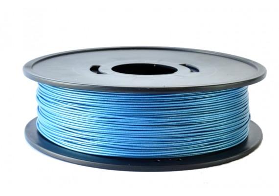 FPLABLEUmetal8kg Bobine fil 3d grand format 8kg PLA BLEU métallisé 3D filament Arianeplast fabriqué en France